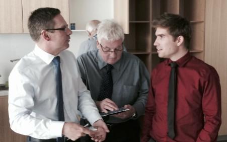 Tony Clarke, Br Hubert Williams and Ryan Gato