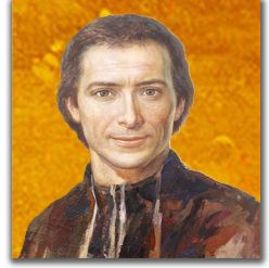 Marcellin Champagnat's portrait painted for his Canonisation in 1999