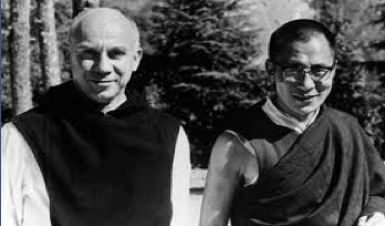 Thomas Merton with the Dalai Lama at Dharamsala on 4 Nov, 1968 (Photo courtesy Chris Pramuk)