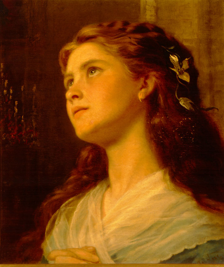 SophieAnderson-Portrait Of Young GirlLarge