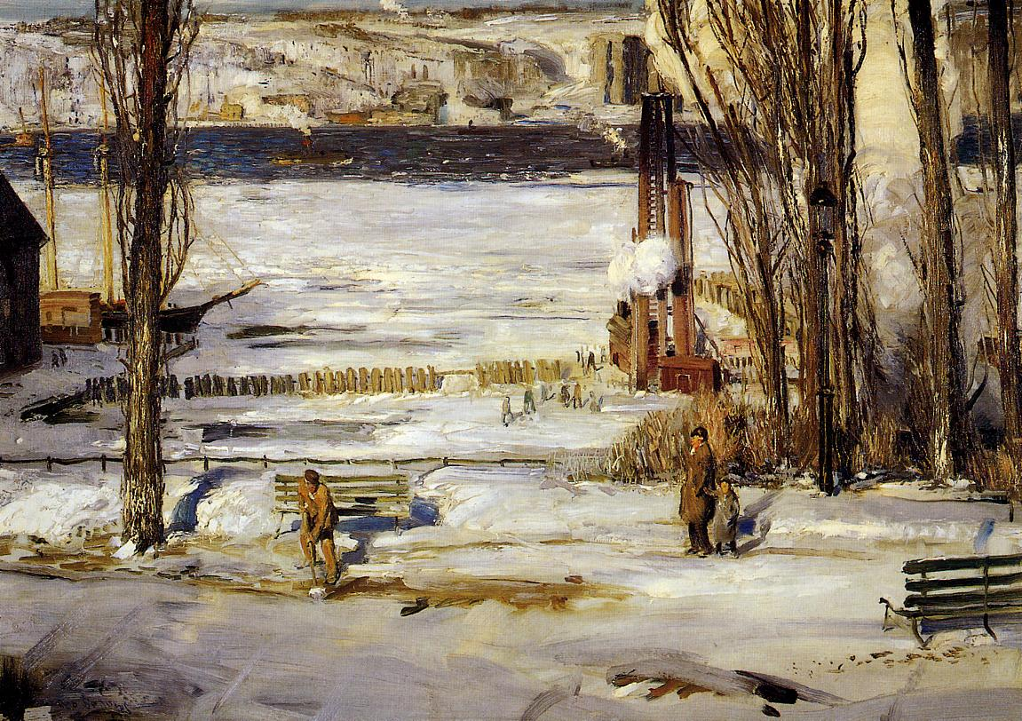 Bellows_George_A_Morning_Snow_Hudson_River_1910
