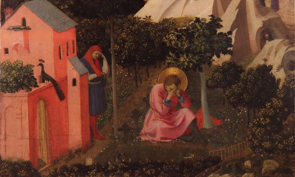 Fra Angelico's painting,  The Conversion of St. Augustine