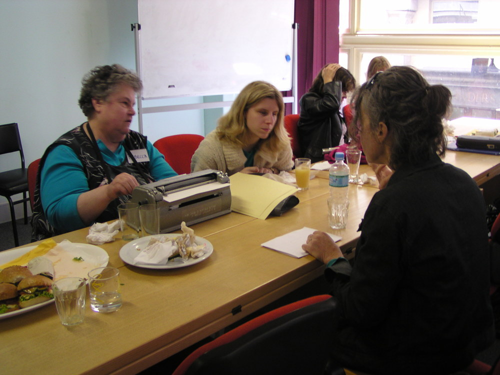 Braille writing workshop