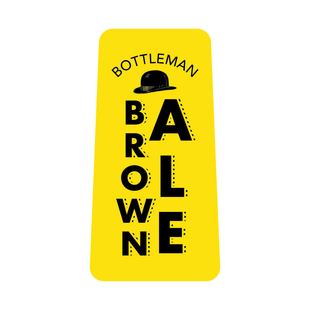 - BOTTLEMAN BROWN ALE - 6.3% ABV, 25 IBU's; American Brown Ale; Brewed with copious amounts of Chocolate Malt, providing a Roasty aroma with a Sweet, Nutty flavor. Finished with Willamette hops.