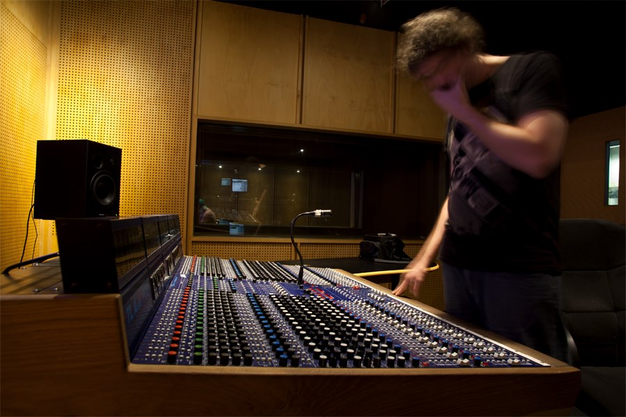Our composer Jack in the studio.