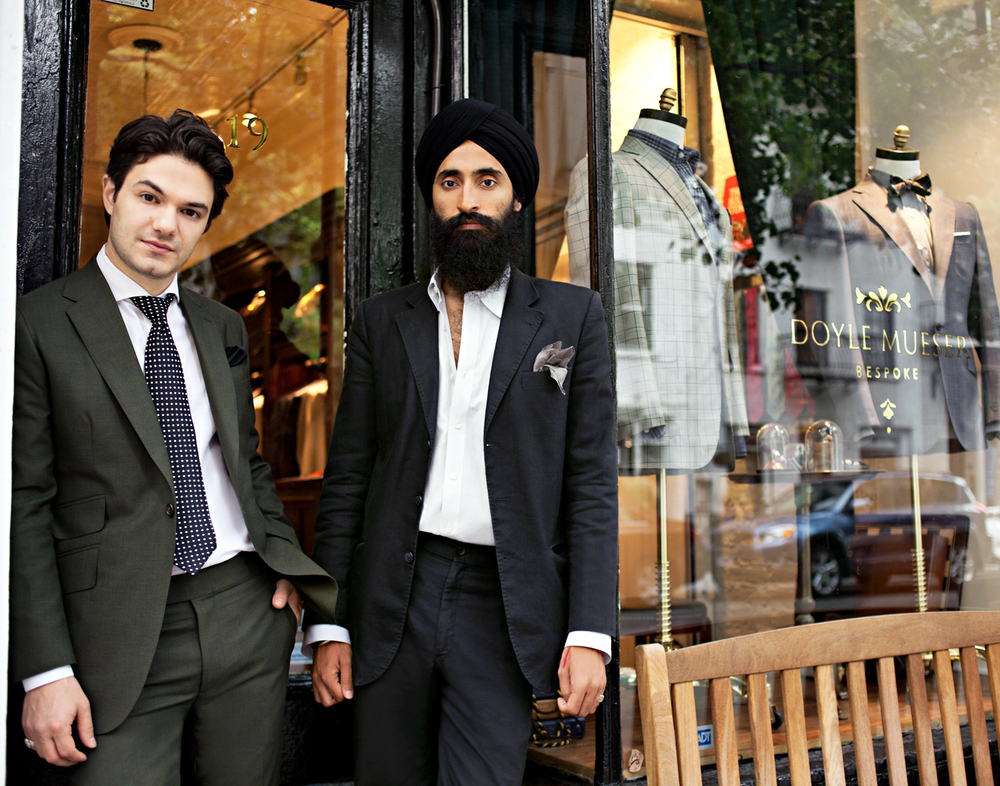 Jake Mueser, owner, Doyle Mueser  Waris Ahluwalia, jewelry designer, House of Waris   GQ India