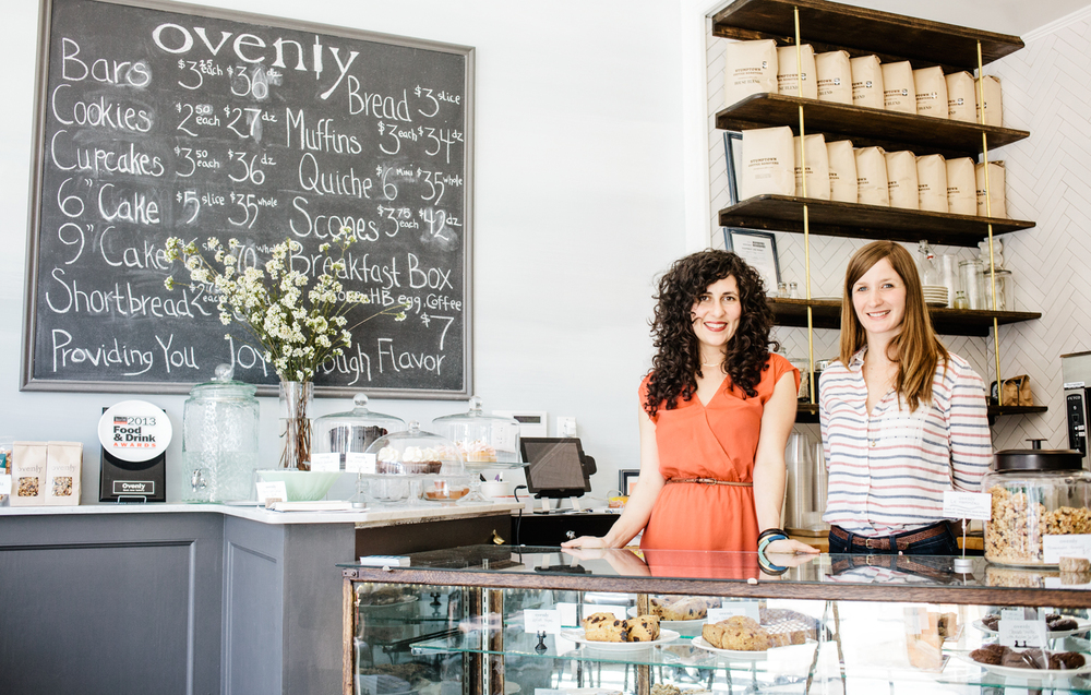 Erin Patinkin (l) and Agatha Kulaga (r), owners, Ovenly