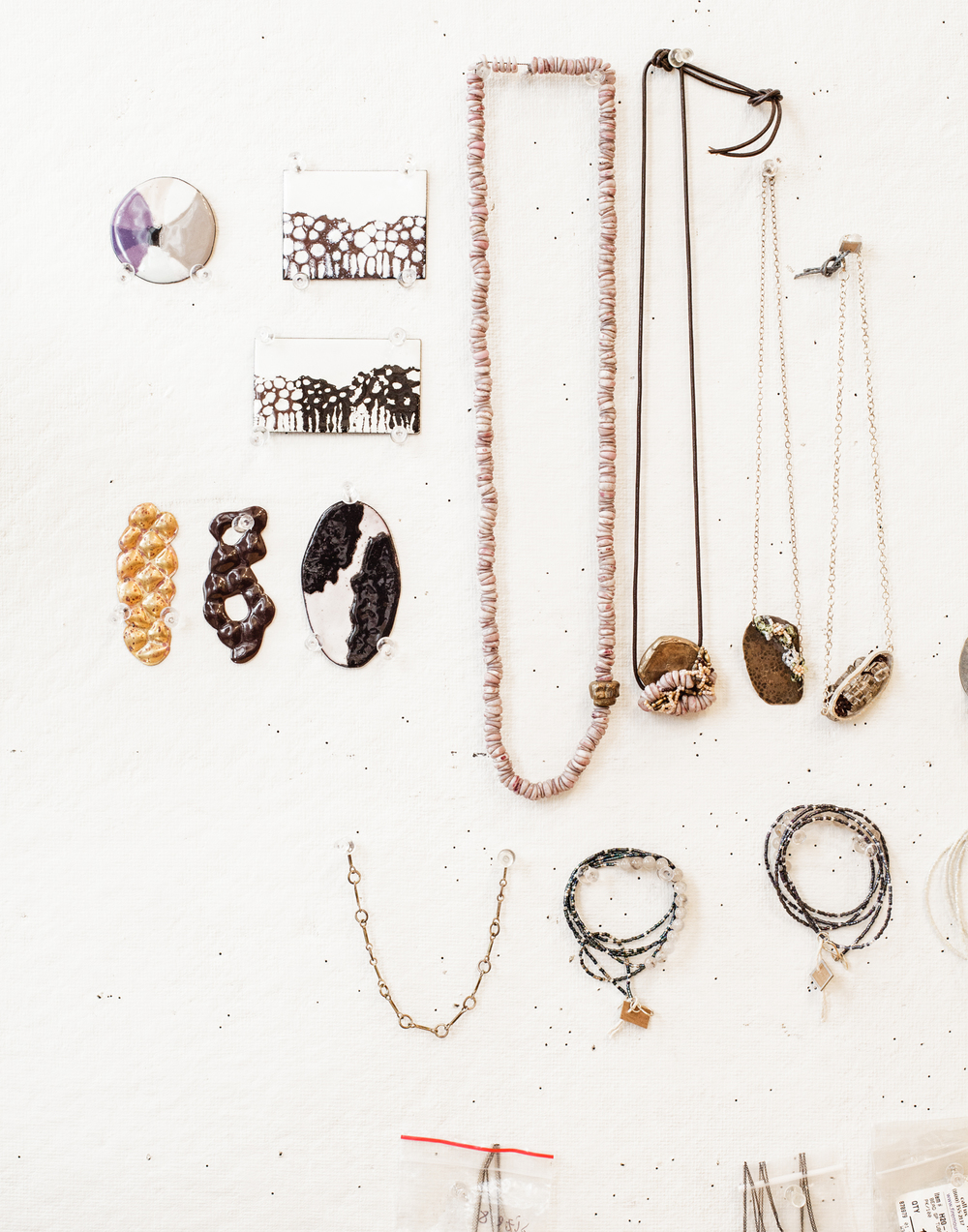 Detail from the jewelry designer Kerrie Yeung's studio.