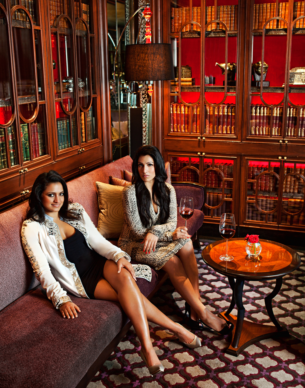 Amruda and Aishwarya Nair at the Leela New Delhi, Harper's Bazaar India. Their family owns the Leela Palaces. TOO INDIAN!