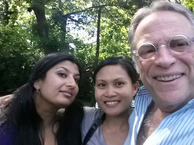 My best friend, Nadia, me and Barry Wishnow. Poor Nadia got conned into assisting for me.