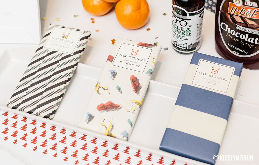 Mast Brothers chocolates to snack on.