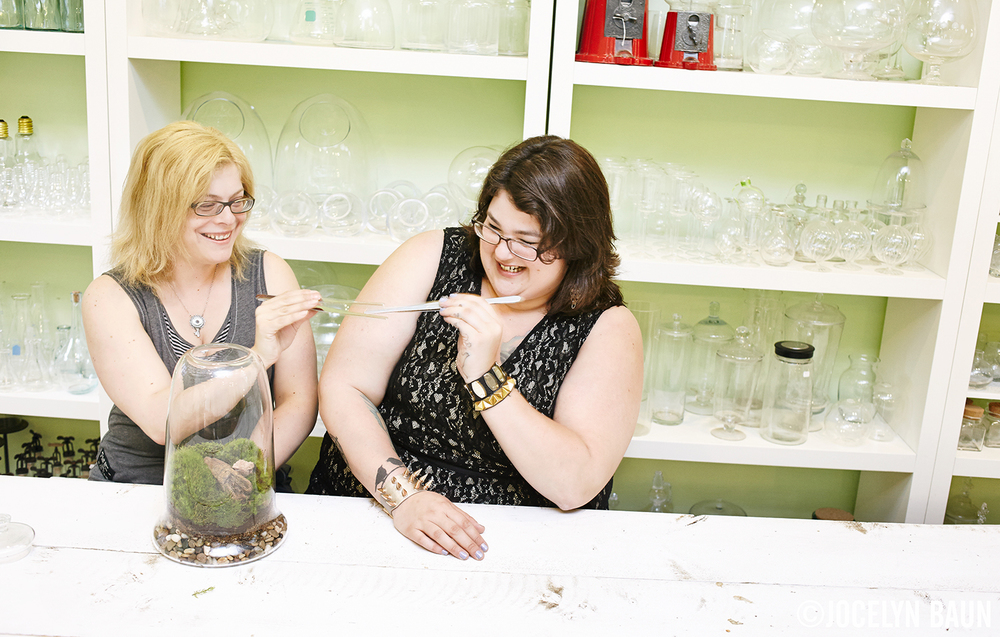 Michelle Inciarrano and Katy Maslow, owners, Twig Terrariums