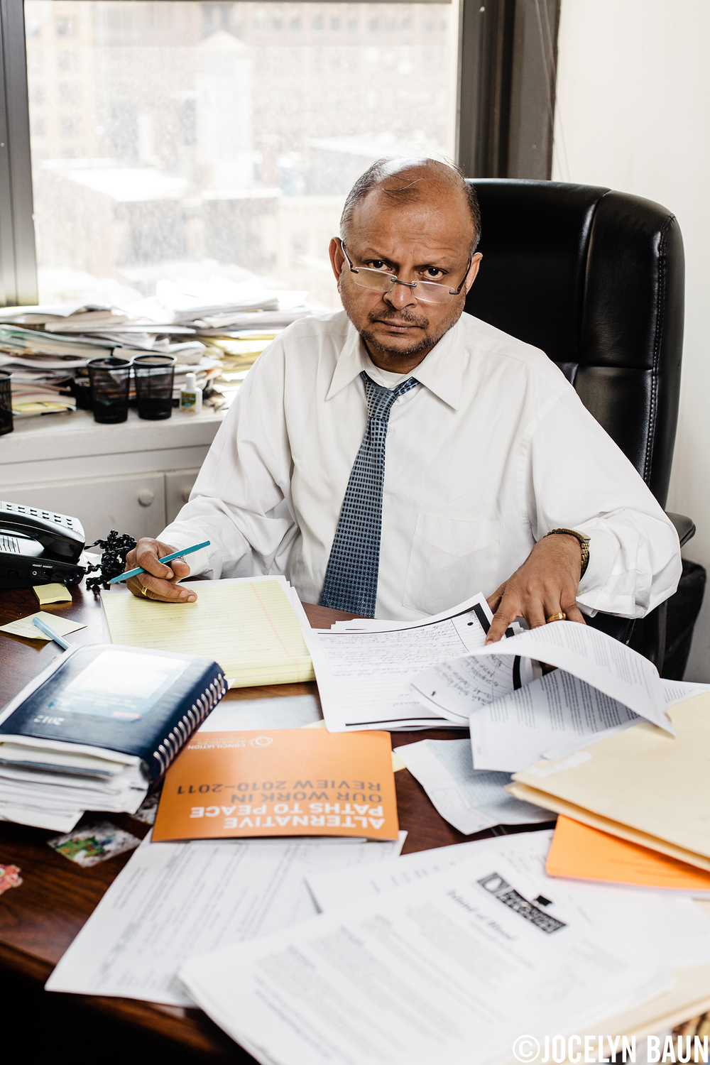 "Transnational Government of Tamil Eelam Prime Minister Visvanathan ""Rudra"" Rudrakumaran in his Manhattan office."