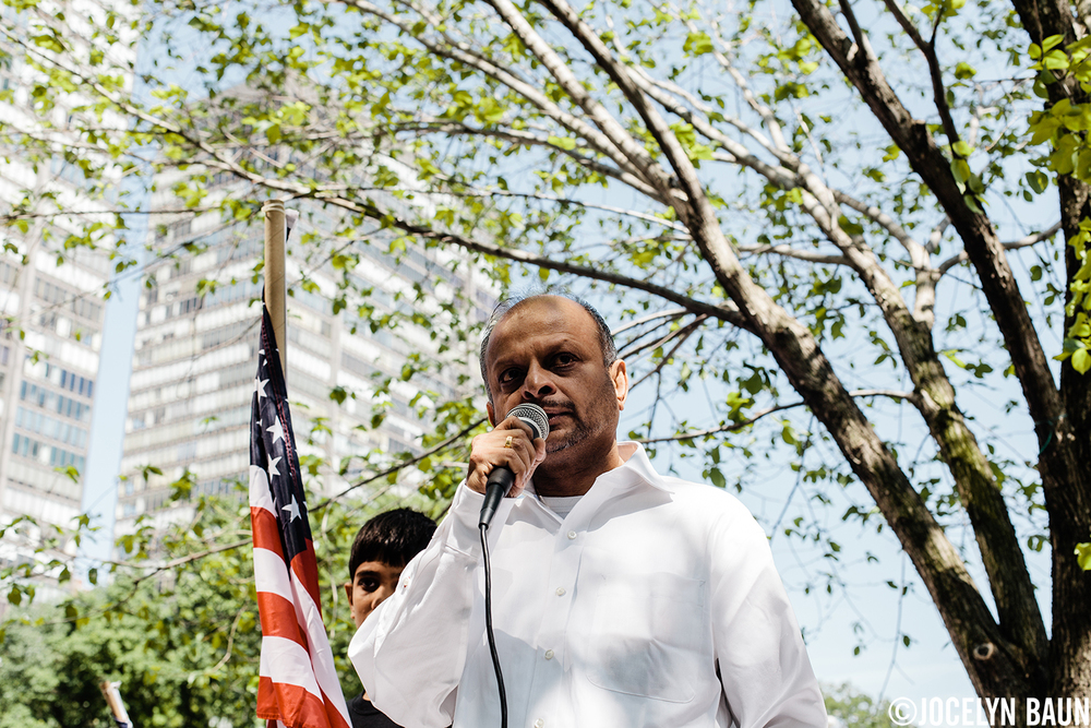 "Transnational Government of Tamil Eelam Prime Minister Visvanathan ""Rudra"" Rudrakumaran makes the case for genocide prosecution during a UN protest. Sri Lankan Tamils want their government held accountable for war crimes."