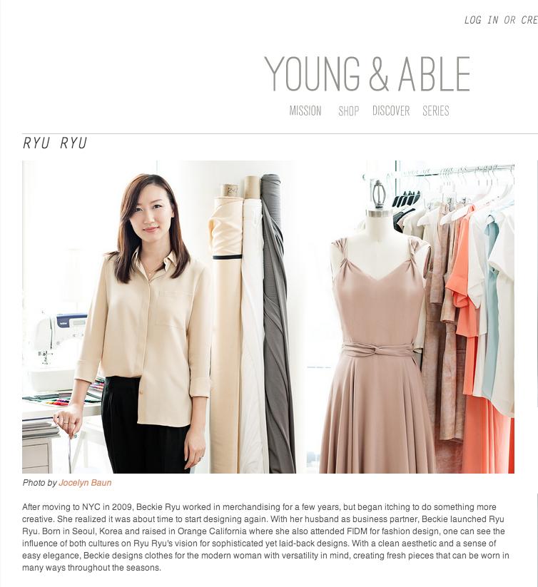Rebekah Ryu of RYU RYU on Young & Able