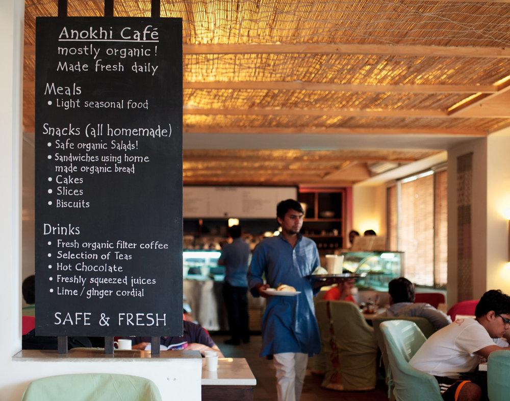 Jaipur, Rajasthan - Anokhi Cafe.  Singapore Airlines SilverKris
