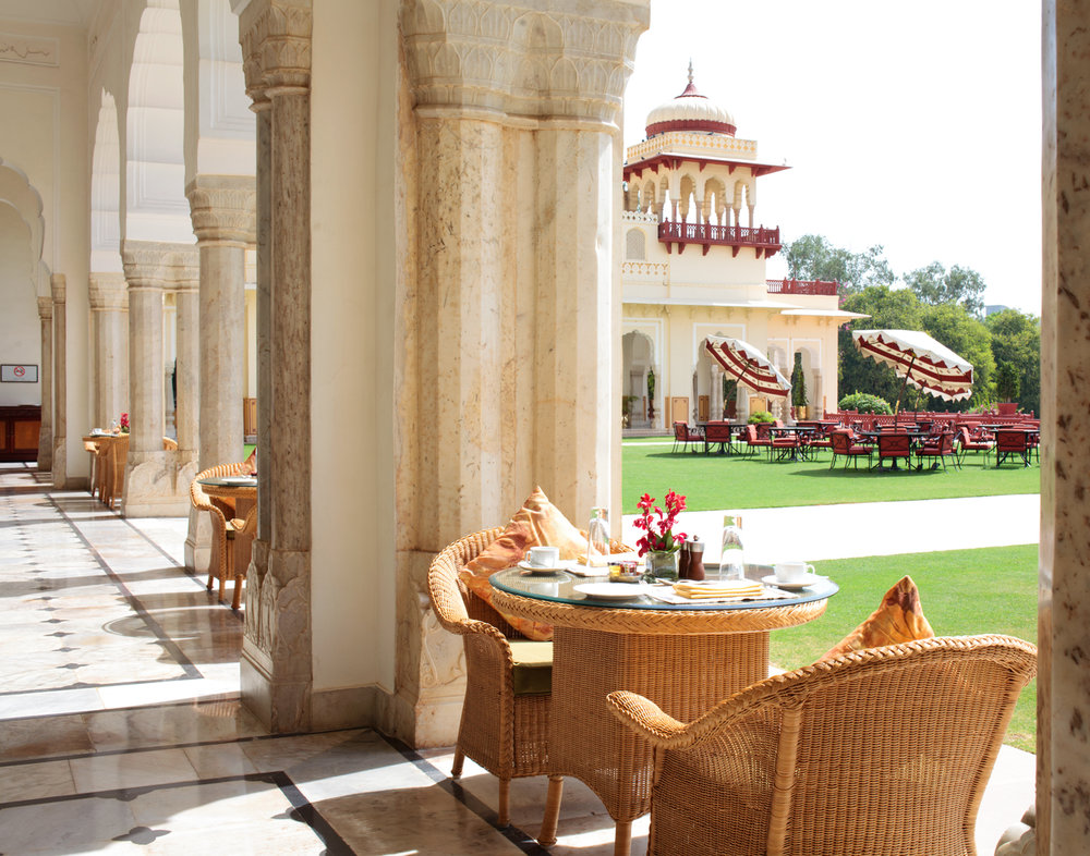 Jaipur, Rajasthan - Rambagh Palace.  Singapore Airlines SilverKris