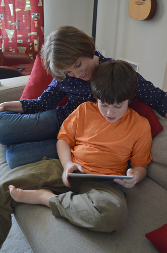 Executive Producer Christa Dahlstrom realized that she and her autistic son were watching an increasing amount of media on the iPad. Download this image.