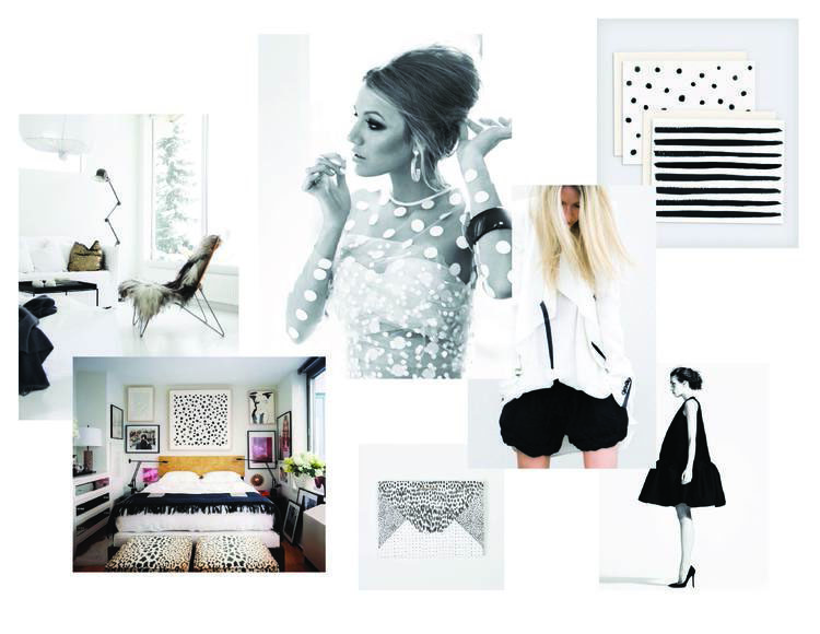 petal style - black and white