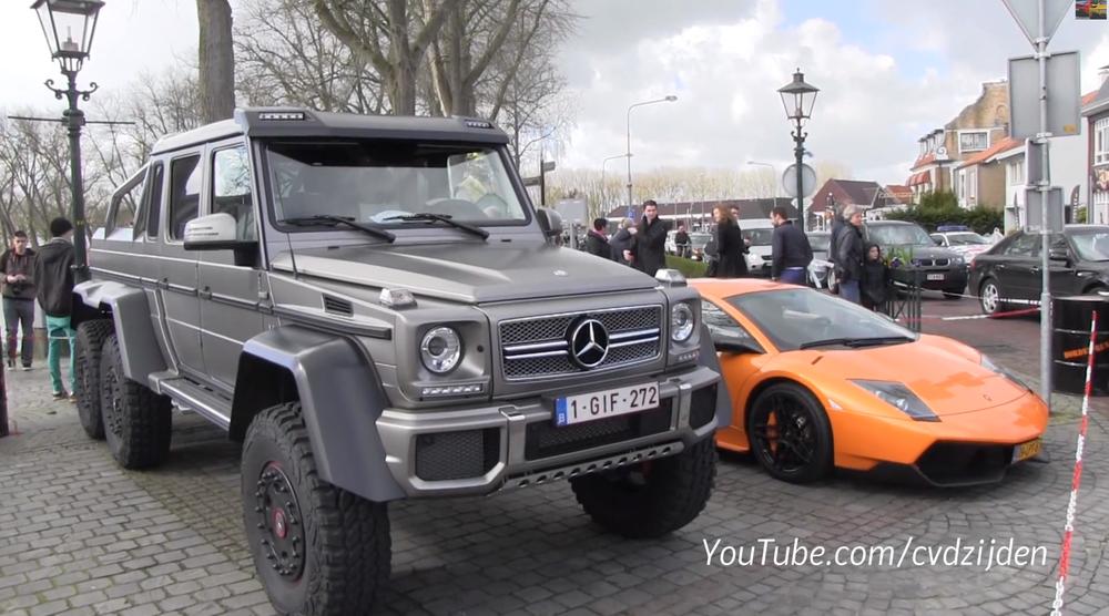 [Vídeo] Compare A Diferença De Tamanho Entre A Mercedes Benz G63 AMG 6X6 E  A Lamborghini Murciélago SV