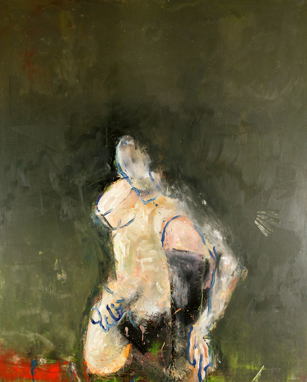 'Man green'  122cm x 152cm x 4cm  Oil on canvas