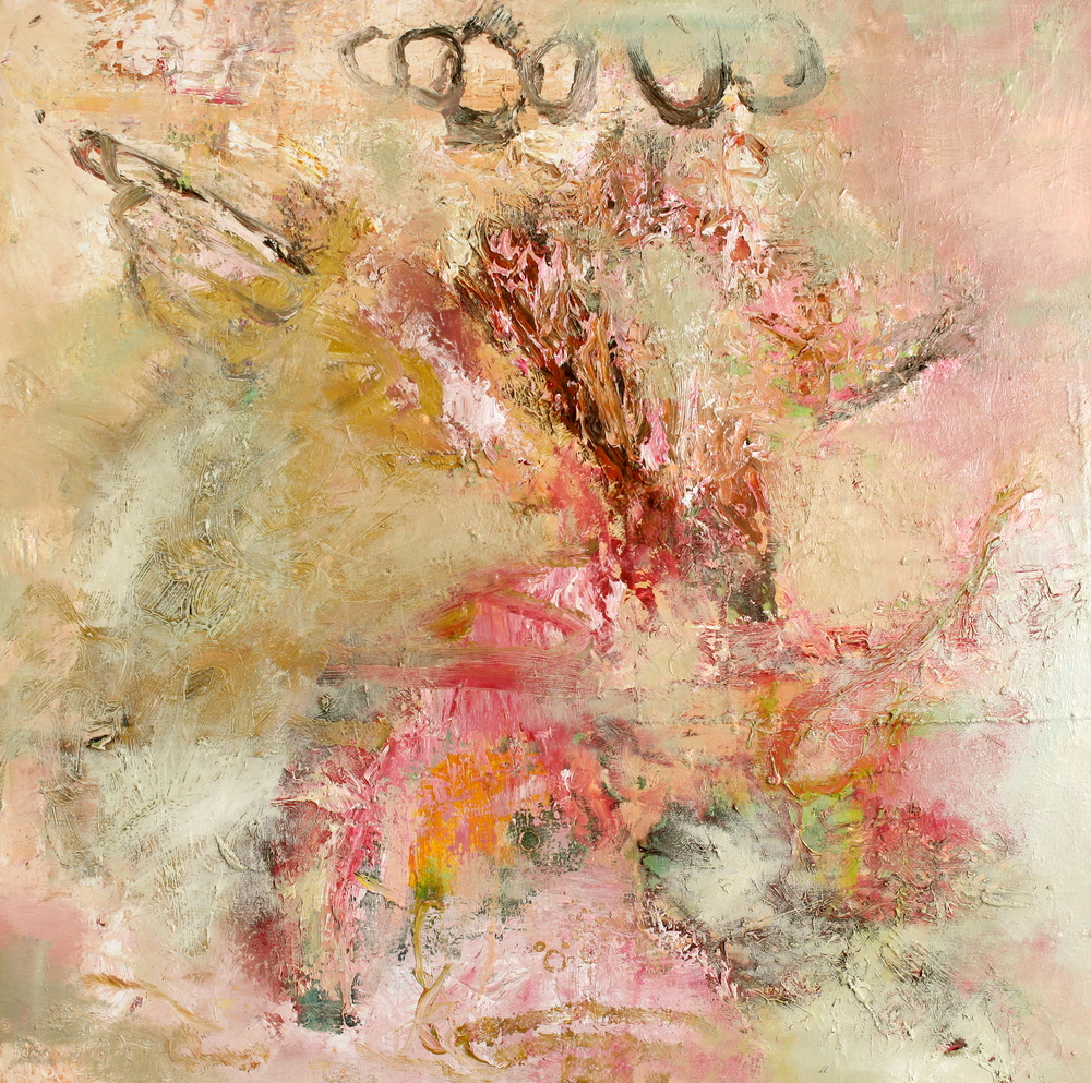 'Untitled August 2014'  Oil on canvas  90cm x 90cm