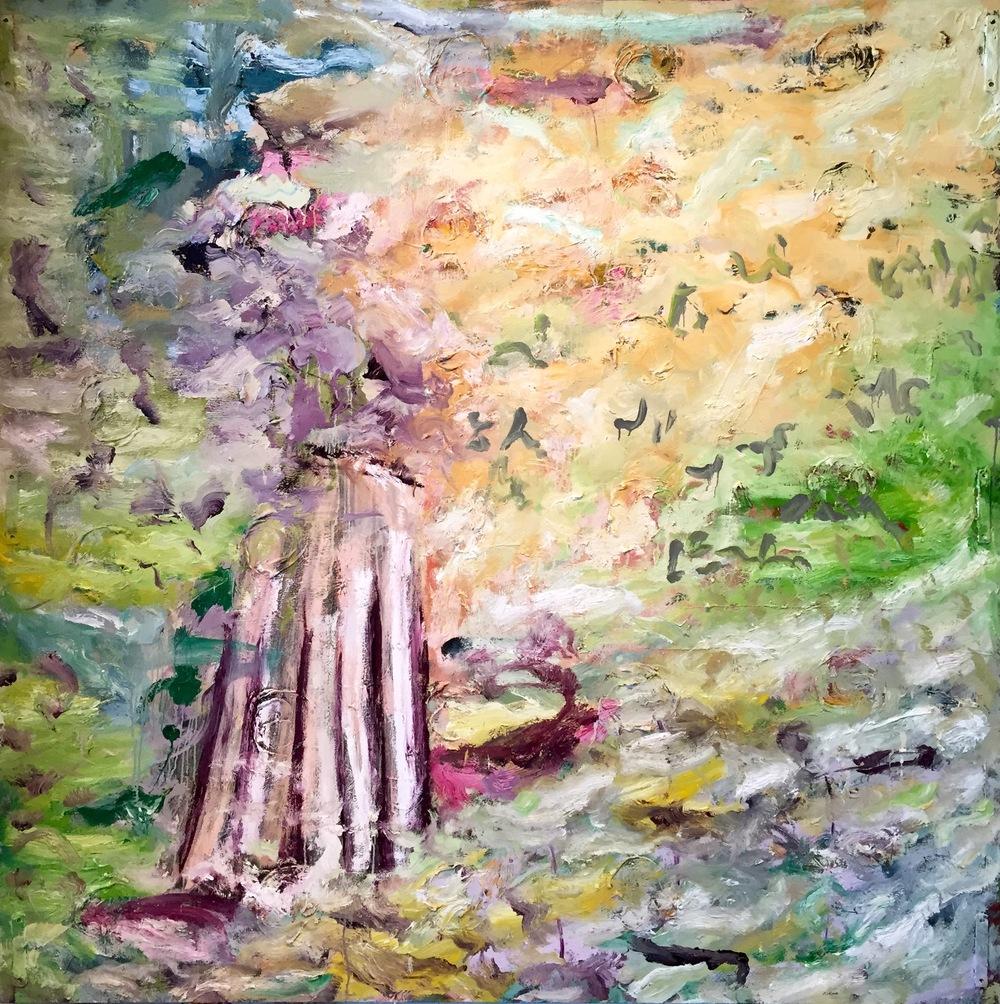 'Grain' 2015  Oil on canvas  182cm x 182cm