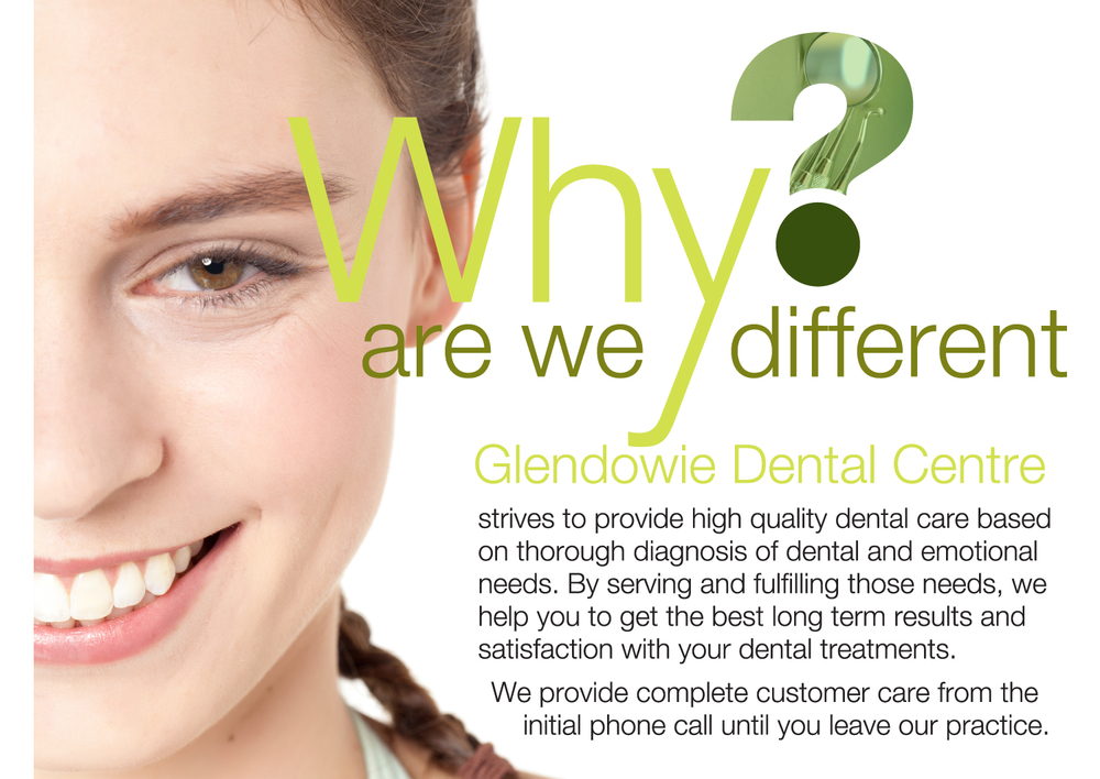 Why are we different?  Glendowie Dental Centre strives to provide high quality dental care based on thorough diagnosis of dental and emotional needs. By serving and fulfilling those needs, we help you to get the best long term results and satisfaction with your dental treatments.  We provide complete customer care from the initial phone call until you leave our practice.