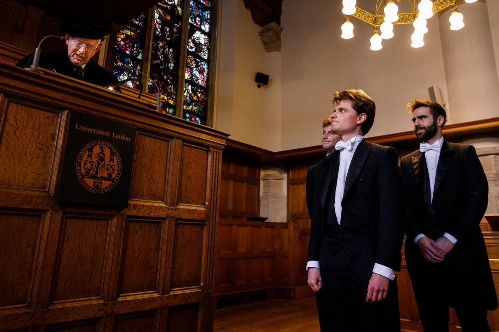 Promotie fotograaf Leiden Universiteit