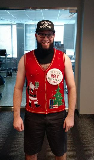 Our ugly sweater winner!