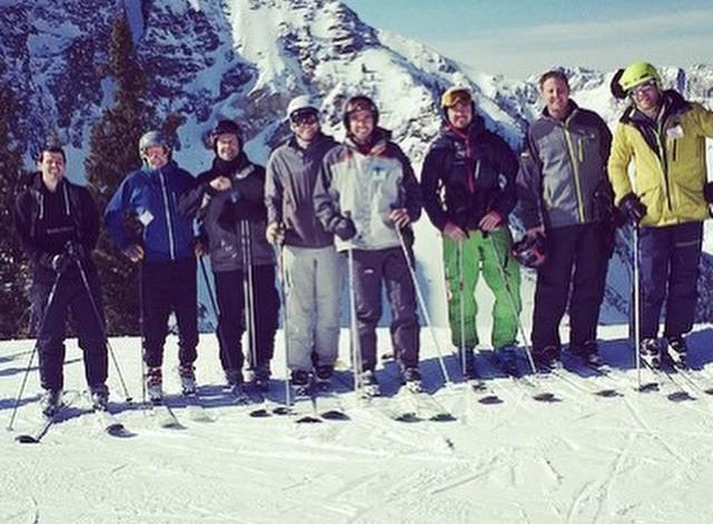 Part of the VueNation team on Ski day.