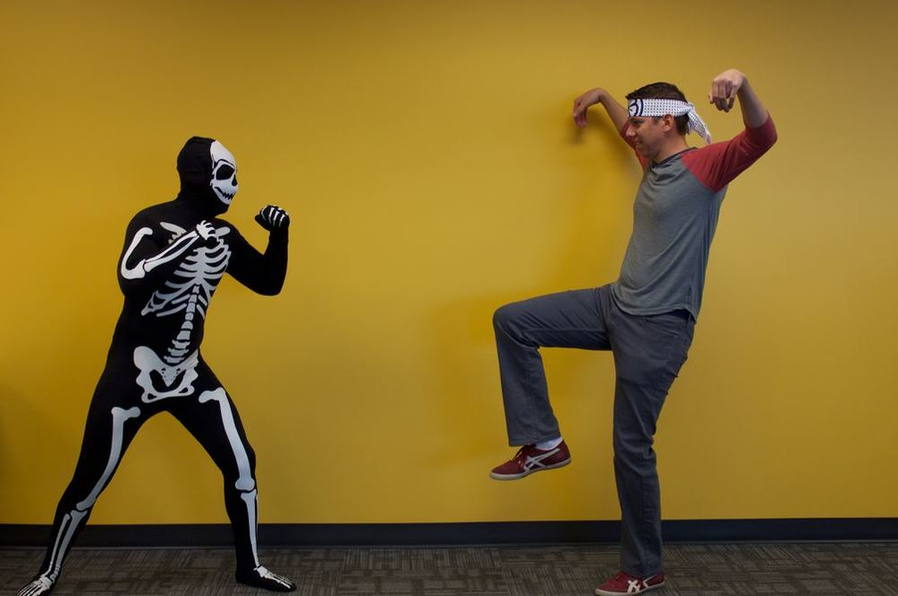 Skeleton & Karate Kid