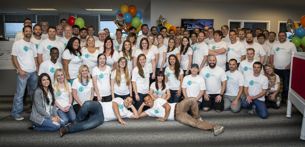 The HireVue team on World Hiring Day, 2016