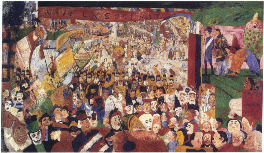 Christ's Entry into Brussels 1889 Ensor