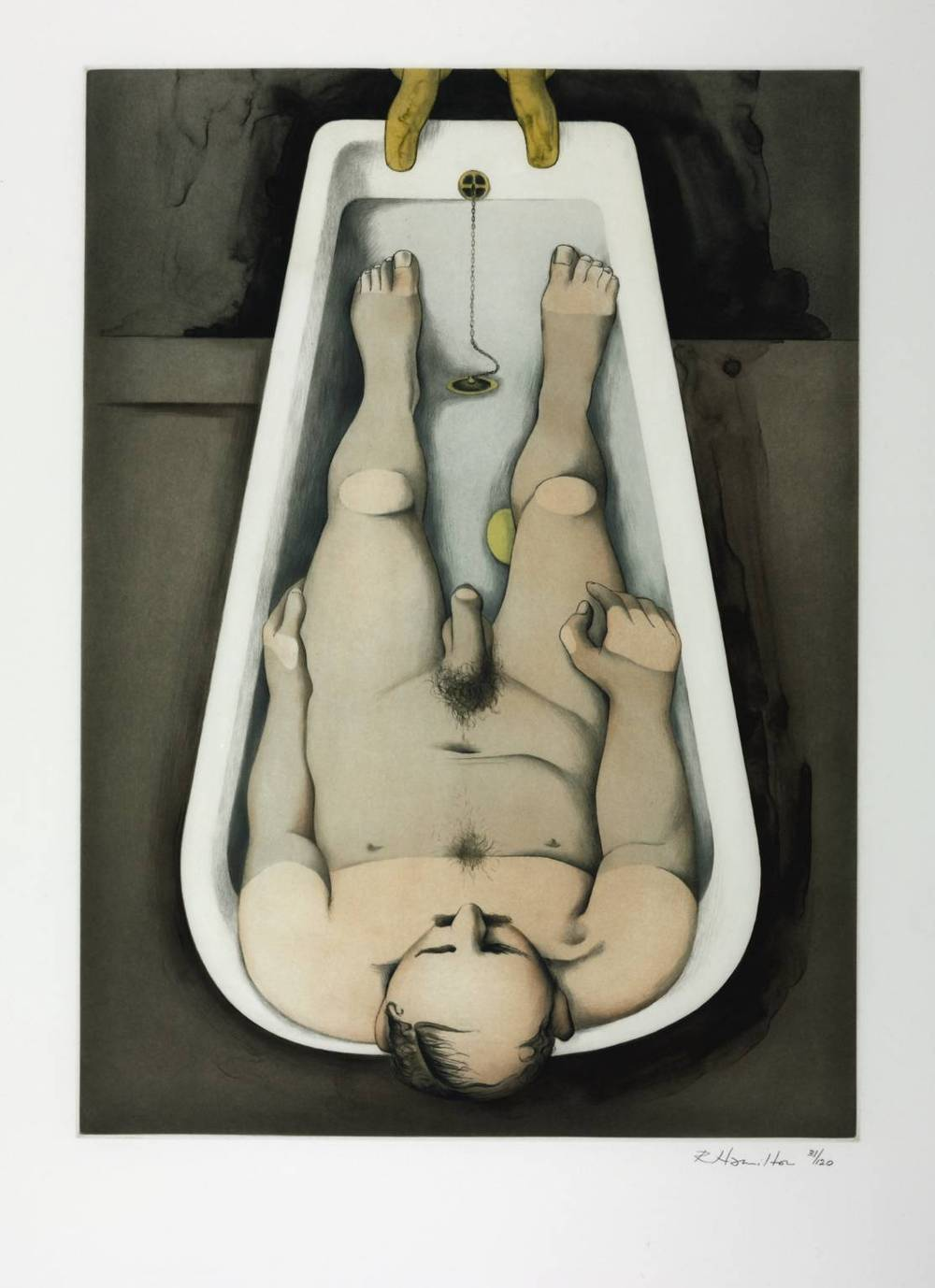 'He foresaw his pale body.'  Richard Hamilton