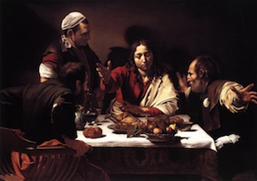 Caravaggio: Supper at Emmaus 1601