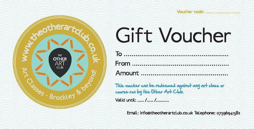 This is what your voucher from us will look like!