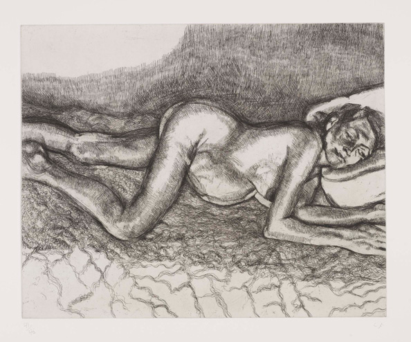 Lucian Freud. Before the 4th. Etching