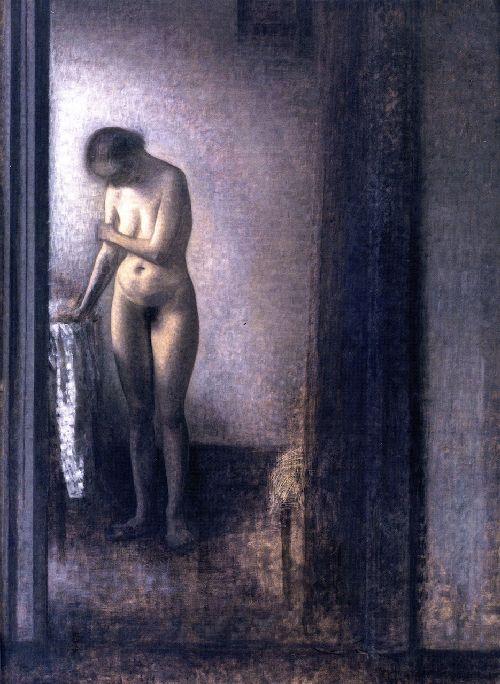 Wilhelm Hammershoi Standing nude