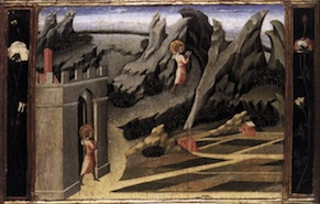 Giovanni Di Paolo, St John the Baptist in the wilderness