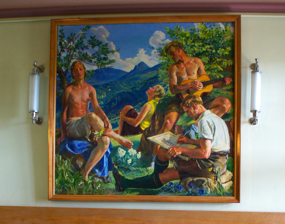 An example of Attenhuber's second style of painting.