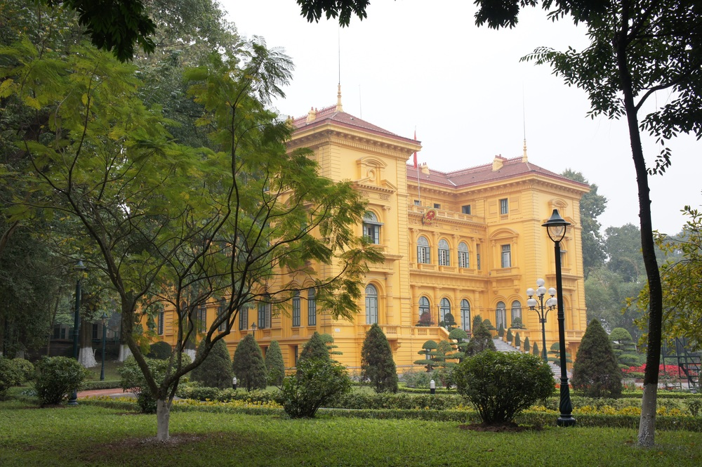 The Presidential Palace where Ho Chi Minh refused to live, saying that he could not stay in such opulence when Vietnamese lived in poverty.