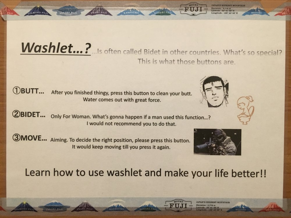 The bidet will blast your balls off