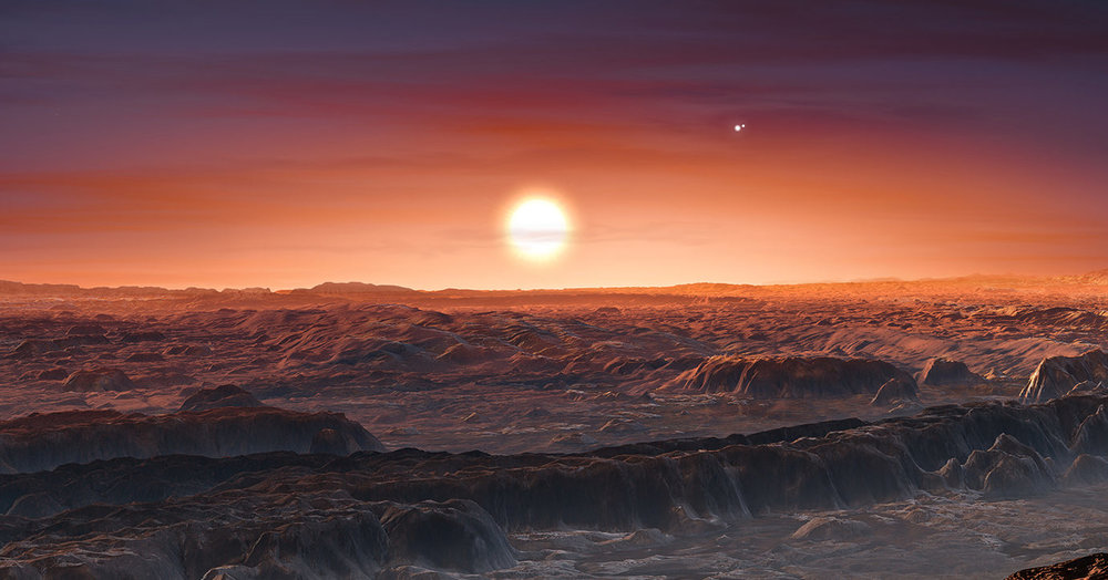 When you only know the minimum mass of a planet, even an artist impression endorsed by ESO isn't based on a whole lot.