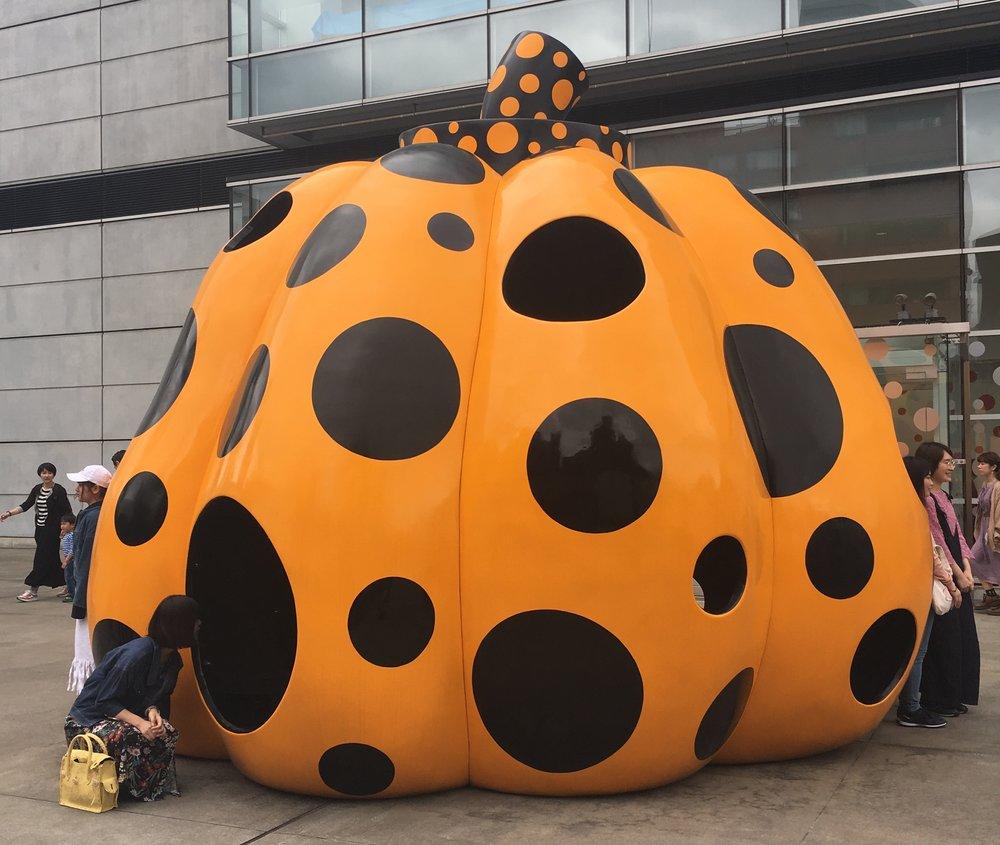 A classic Yayoi Kusama pumpkin