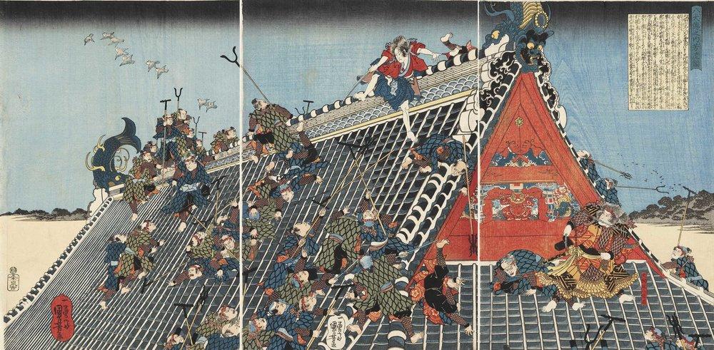 The ukiyo-e print by Tsukioka Yoshitoshi.