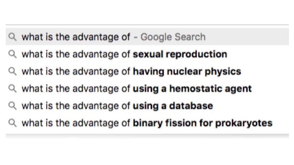 "I began typing into google ""what is the advantage of autoinjectors""... this was the suggested auto-complete. The Universe is not of one mind."