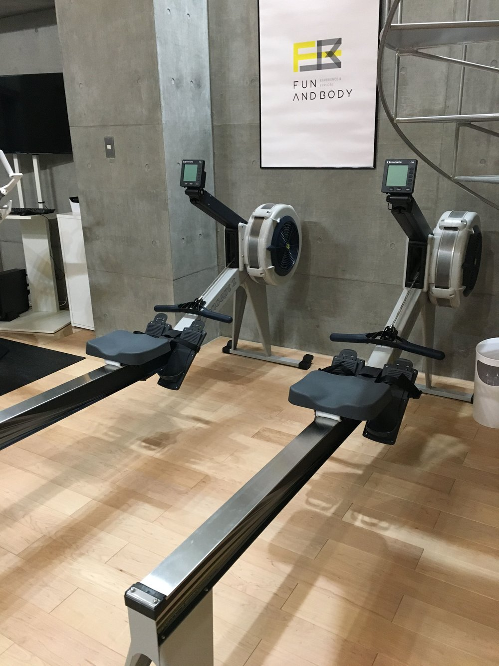 Rowing machines at Body and Fun (photo from their website).