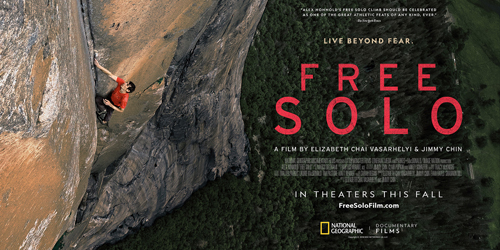 Free Solo Client: National Geographic Director: E. Chai Vasarhelyi & Jimmy Chin  **Telluride Film Festival 2018**  **Winner** Peoples Choice award Toronto International Film Festival 2018**