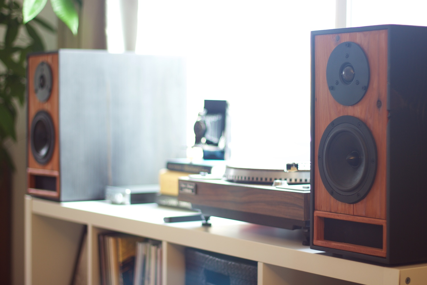 Bookshelf Speakers in Ebony & Redwood — Salvage Audio || California ...
